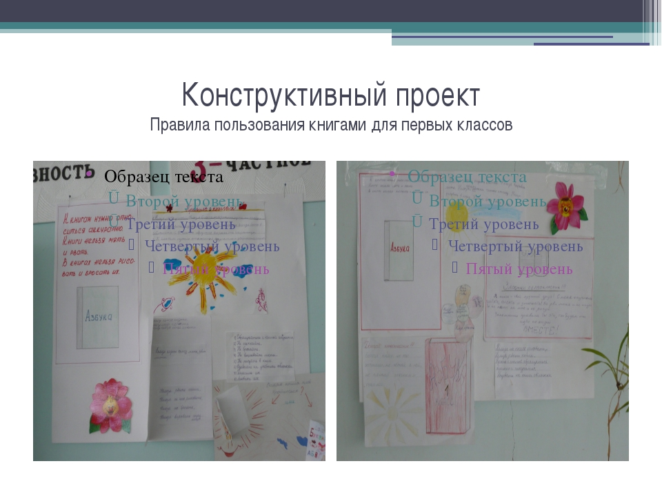 Конструктивный проект Правила пользования книгами для первых классов
