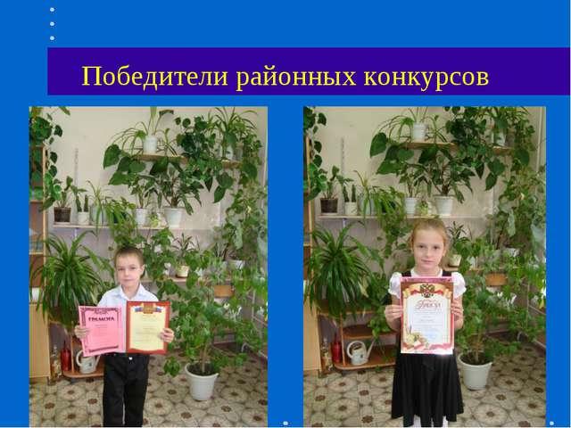 Победители районных конкурсов