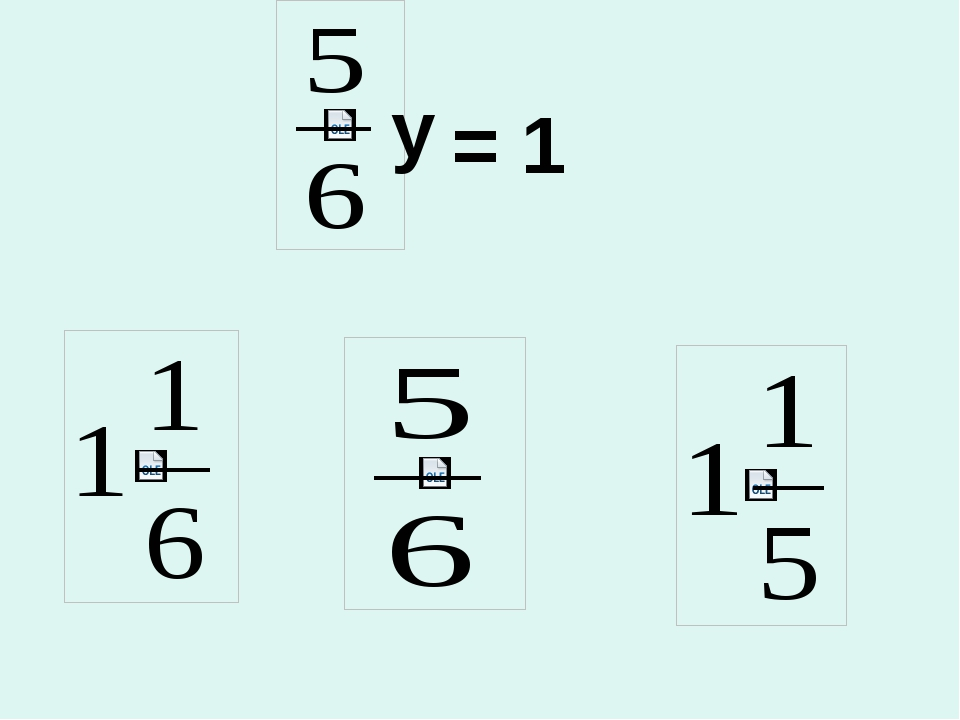 y = 1