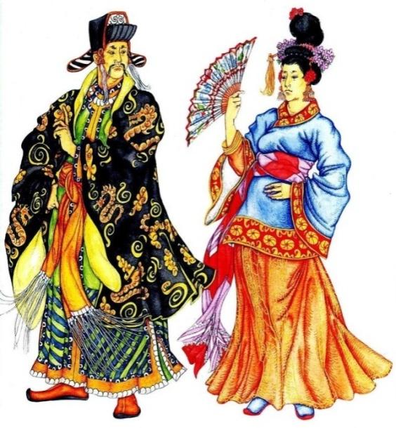 мужской и женский костюм Древнего Китая