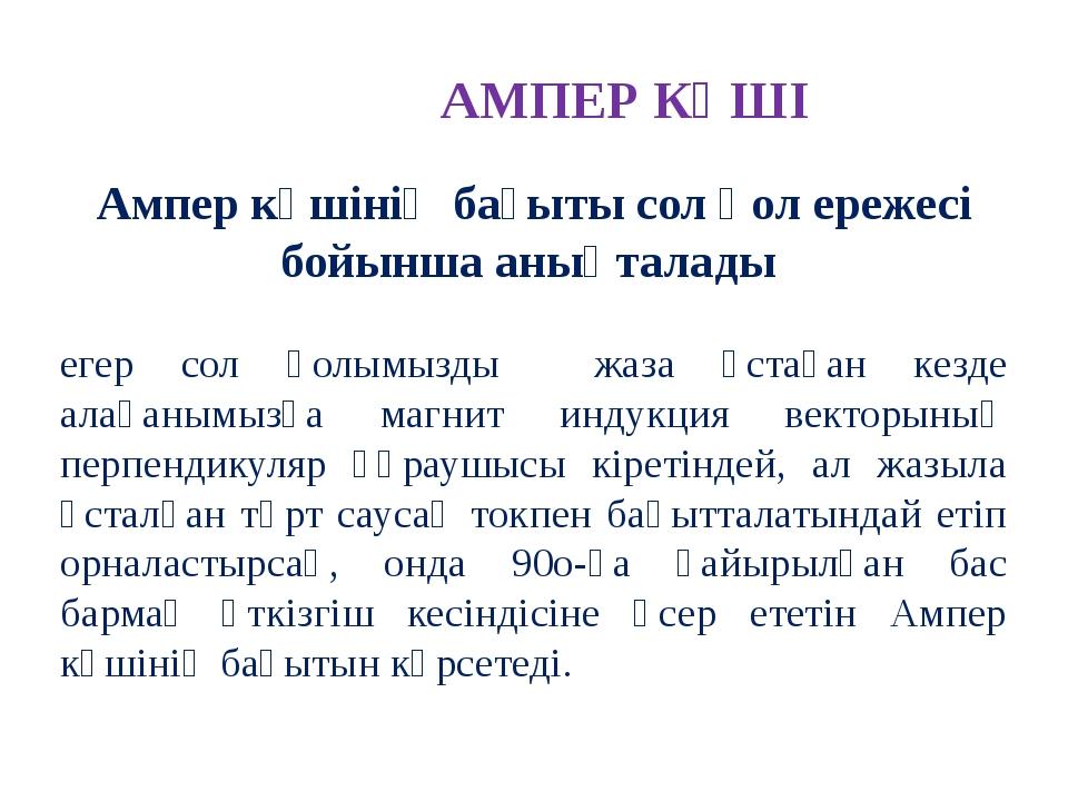 АМПЕР КҮШІ