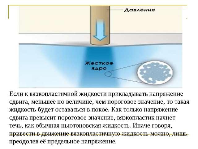 Если к вязкопластичной жидкости прикладывать напряжение сдвига, меньшее по ве...