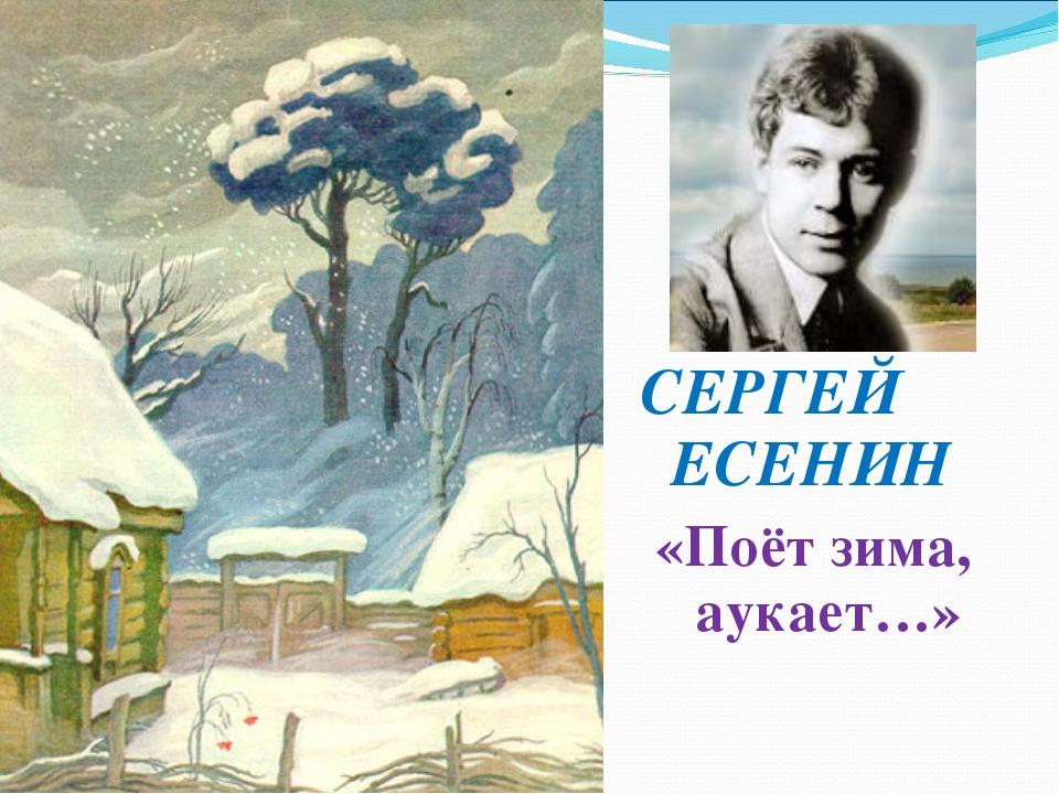 Есенин поет зима аукает картинка