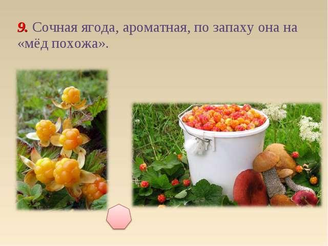 9. Сочная ягода, ароматная, по запаху она на «мёд похожа».