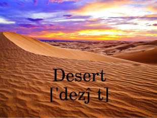 Desert ['dezət]