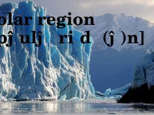 Polar region [ˈpəulə ˈriːdʒ(ə)n]