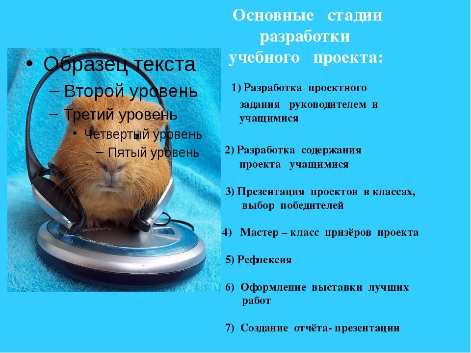 Основные стадии разработки учебного проекта: 1) Разработка проектного задани...