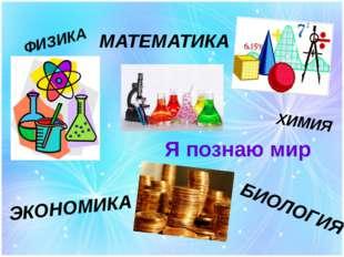 Я познаю мир ФИЗИКА ХИМИЯ ЭКОНОМИКА БИОЛОГИЯ МАТЕМАТИКА