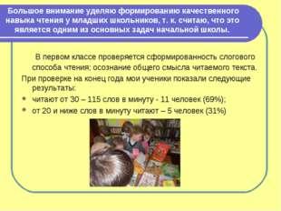 Большое внимание уделяю формированию качественного навыка чтения у младших шк