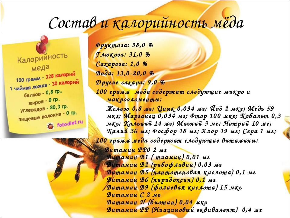 Калорийность чёрного чая с мёдом