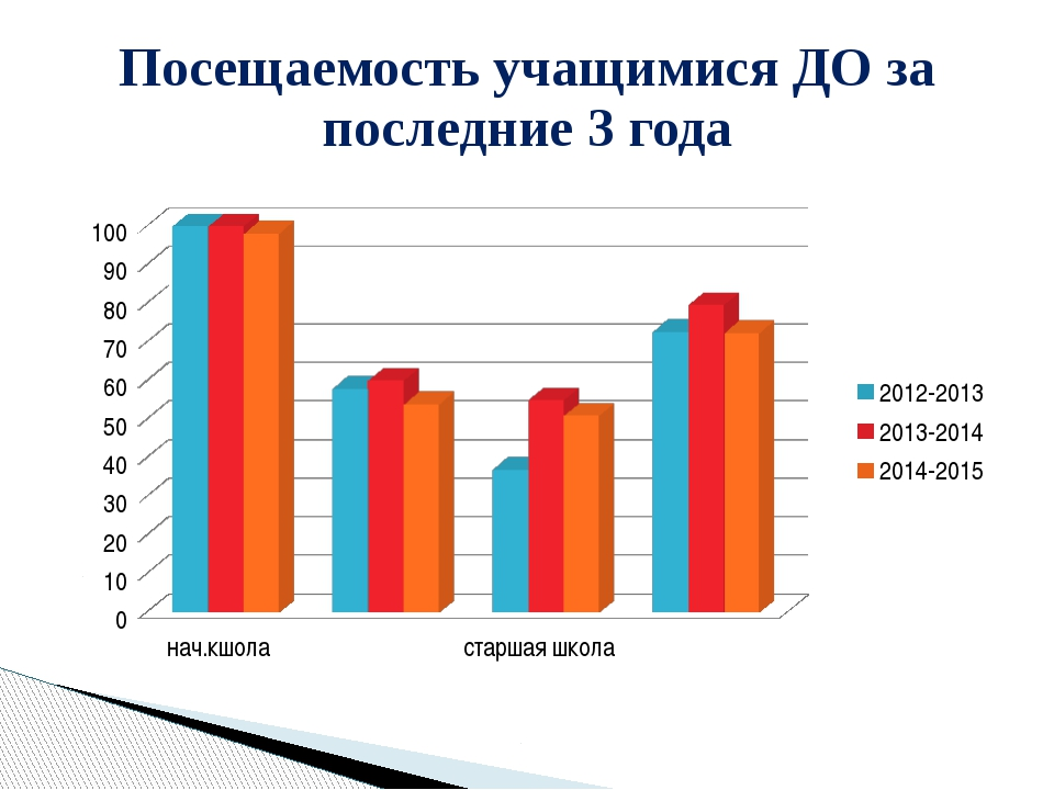 Посещаемость учащимися ДО за последние 3 года