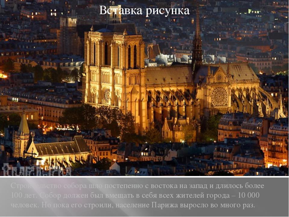Строительство собора шло постепенно с востока на запад и длилось более 100 ле...