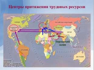 Центры притяжения трудовых ресурсов Персидский залив