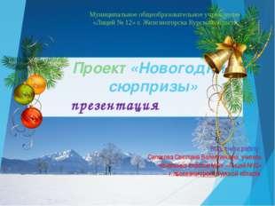 Проект «Новогодние сюрпризы» презентация Выполнила работу: Силакова Светлана