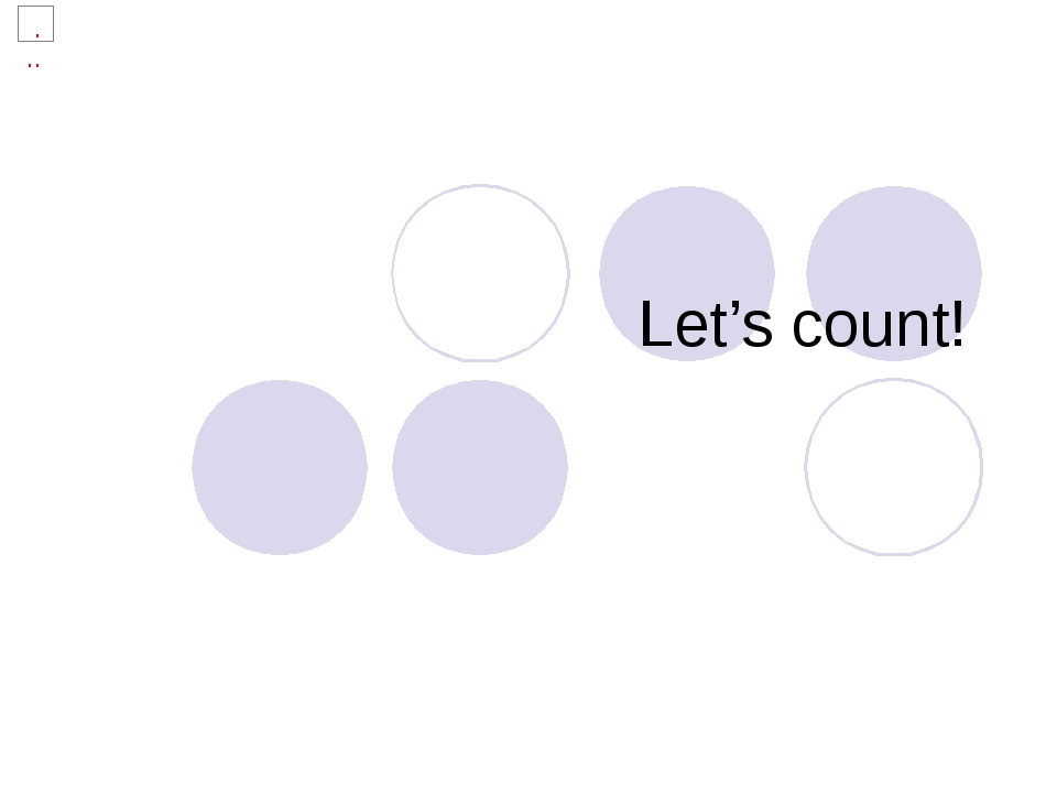 Let's count!