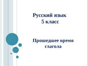 Русский язык 5 класс Прошедшее время глагола