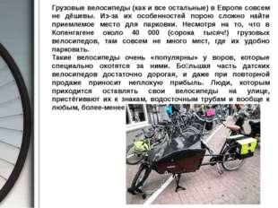 Грузовые велосипеды (как и все остальные) в Европе совсем не дёшевы. Из-за и