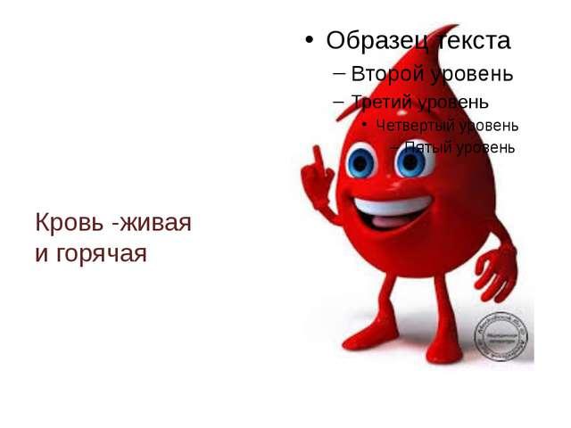 Кровь -живая и горячая