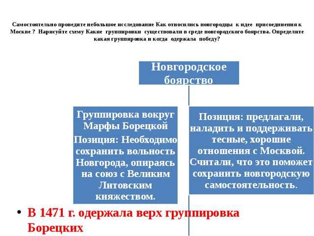 Самостоятельно проведите небольшое исследование Как относились новгородцы к и...