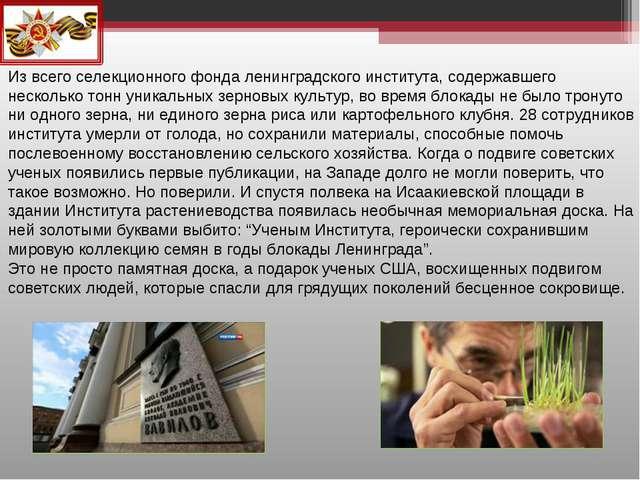 Из всего селекционного фонда ленинградского института, содержавшего нескольк...