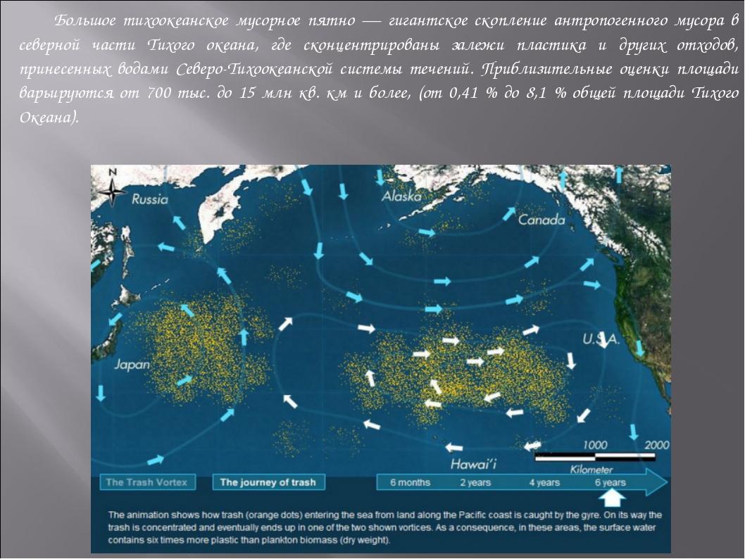Большое тихоокеанское мусорное пятно — гигантское скопление антропогенного м...