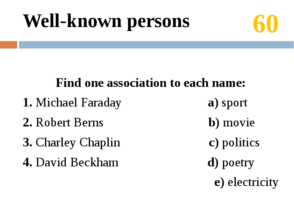 20 The answer: The Petrovs are our friends. Topics