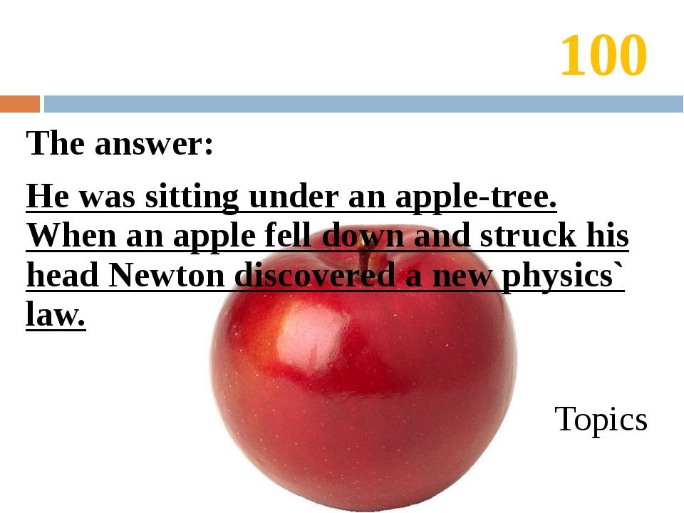 20 The answer: «Лучше поздно, чем никогда». Topics