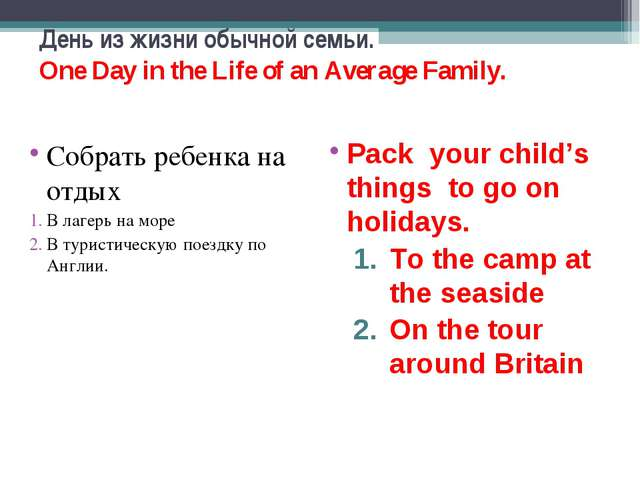 День из жизни обычной семьи. One Day in the Life of an Average Family. Собрат...