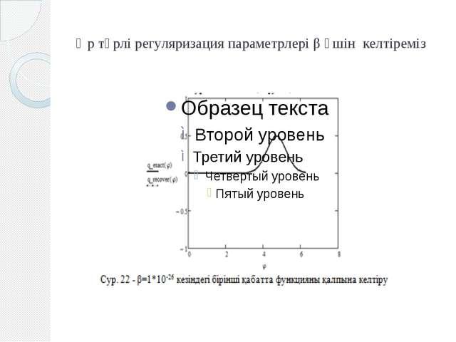 Әр түрлі регуляризация параметрлері β үшін келтіреміз