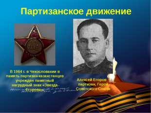 Партизанское движение Алексей Егоров – партизан, Герой Советского Союза В 196
