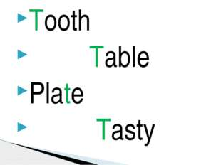 Tooth Table Plate Tasty