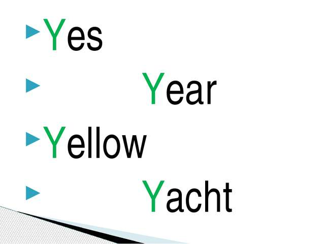 Yes Year Yellow Yacht