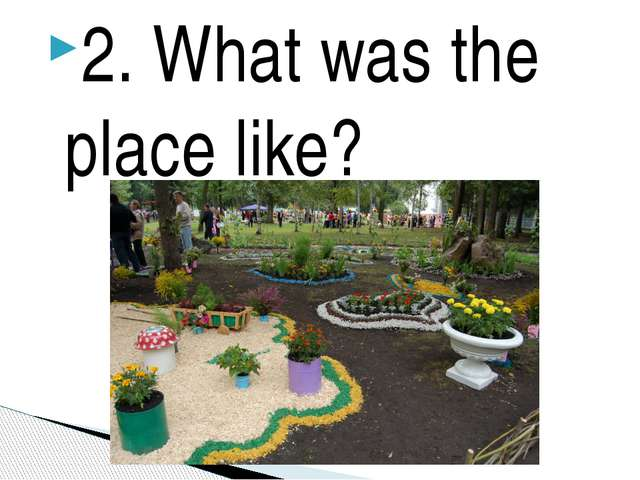 2. What was the place like?