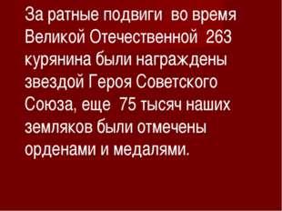 За ратные подвиги во время Великой Отечественной 263 курянина были награждены