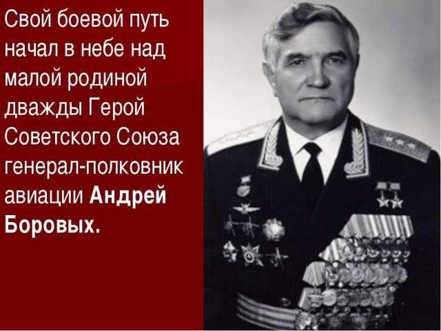 Свой боевой путь начал в небе над малой родиной дважды Герой Советского Союза...
