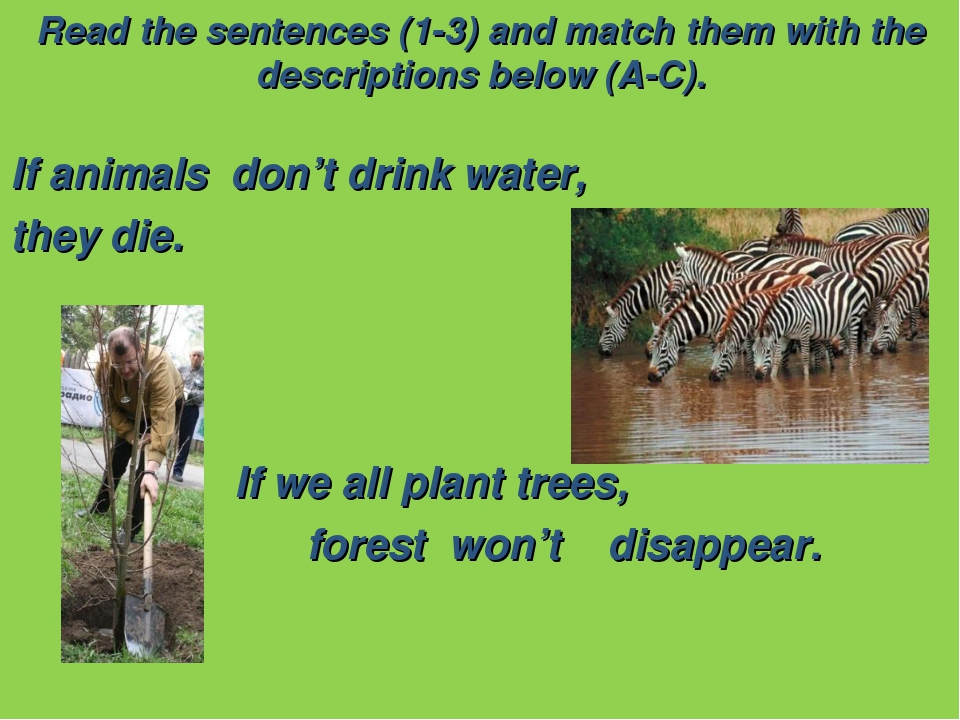 Read the sentences (1-3) and match them with the descriptions below (A-C). If...