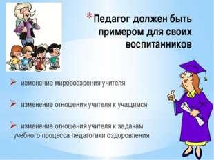 Педагог должен быть примером для своих воспитанников изменение мировоззрения