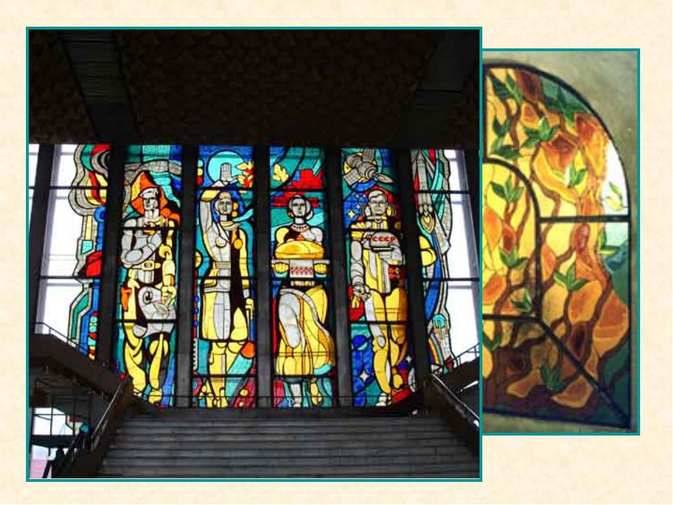 """Слово """"витраж"""" произошло от французского vitre (оконное стекло) и заняло свое..."""