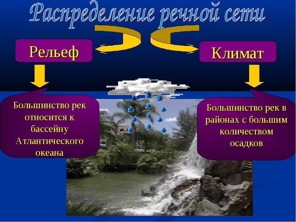 Рельеф Климат Большинство рек относится к бассейну Атлантического океана Боль...