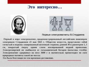 Первый в мире электромагнит, продемонстрированный английским инженером элект