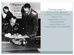 Командующий 1-м Белорусским фронтом Маршал Советского Союза Жуков Г.К. подпи