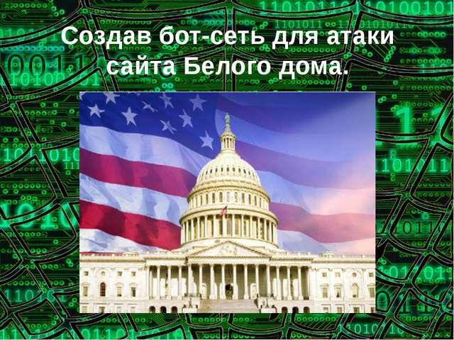 Создав бот-сеть для атаки сайта Белого дома.