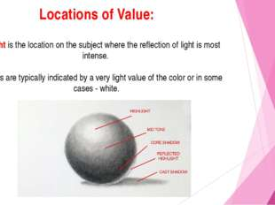 Locations of Value: Highlight is the location on the subject where the reflec