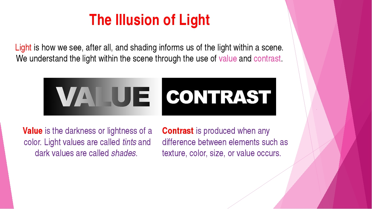The Illusion of Light Light is how we see, after all, and shading informs us...