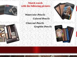 Watercolor Pencils Colored Pencils Charcoal Pencils Graphite Pencils Match wo