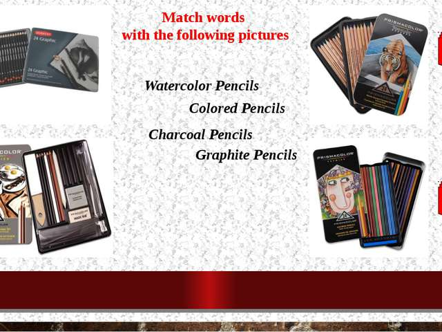 Watercolor Pencils Colored Pencils Charcoal Pencils Graphite Pencils Match wo...
