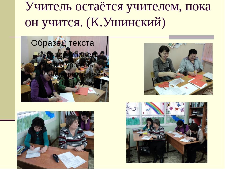 Учитель остаётся учителем, пока он учится. (К.Ушинский)