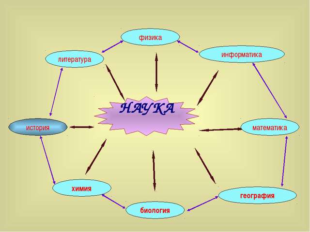 НАУКА химия биология география история информатика физика литература математика