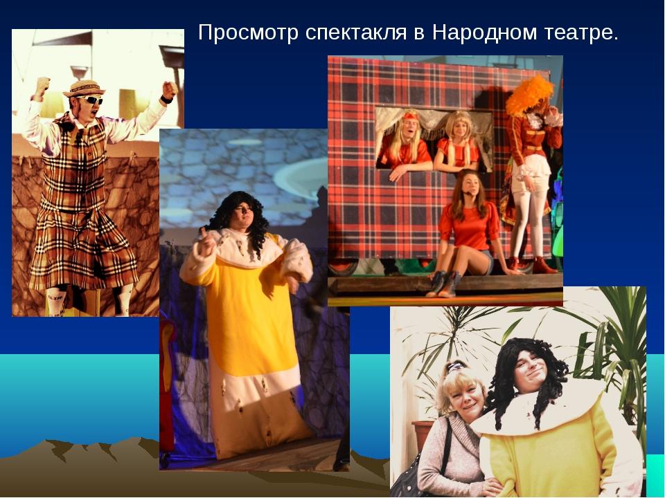 Просмотр спектакля в Народном театре.