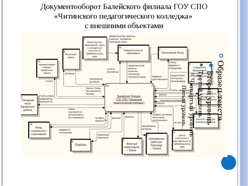 Функциональная структура Балейского филиала ГОУ СПО «Читинского педагогическ...